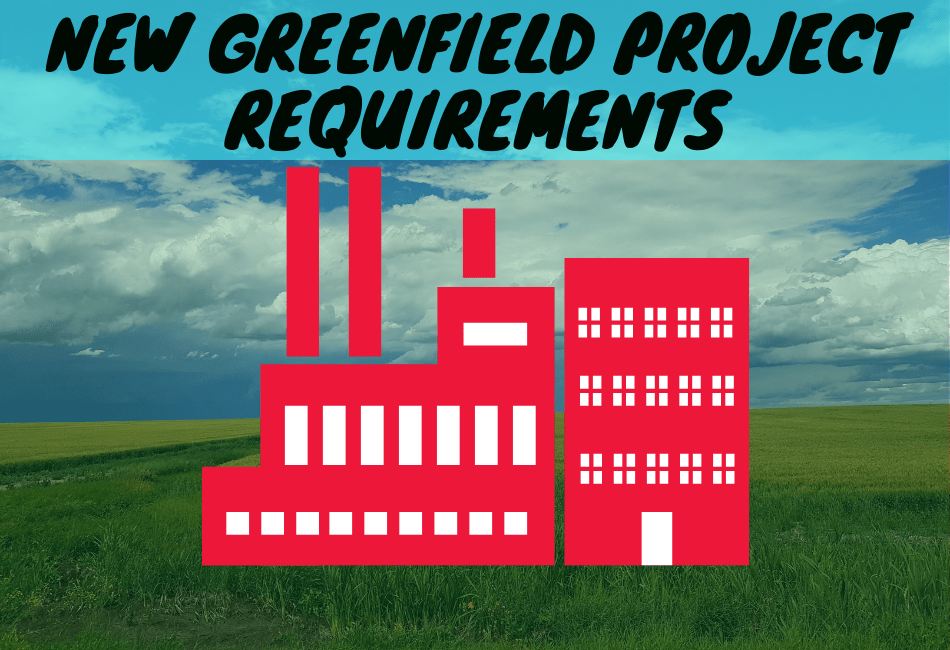 New Greenfield Project Requirements